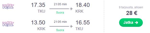Lennot Krakova