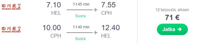 Lennot Kööpenhamina