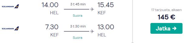 Lennot Islantiin