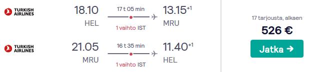 Lennud Mauritius