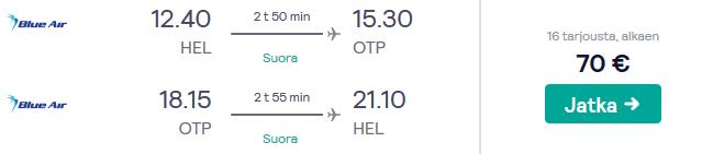 Lennot bukarestiin
