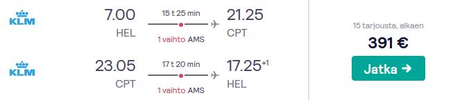 Lennot Kapkaupunkiin