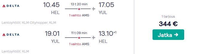Lennot Montrealiin