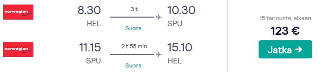 Lennot Splitiin