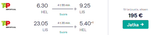 Lennot Lissaboniin