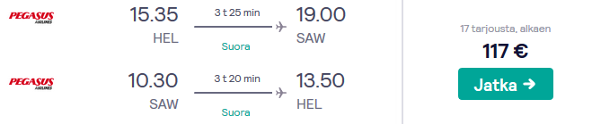 Lennot Istanbuliin